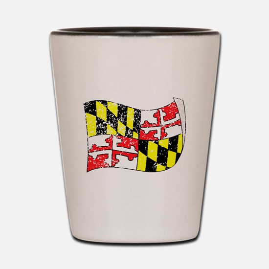 Maryland State Flag (Distressed) Shot Glass