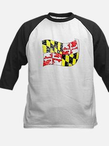 Maryland State Flag (Distressed) Baseball Jersey