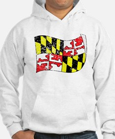 Maryland State Flag (Distressed) Hoodie