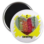 I LOVE SEWING Magnet