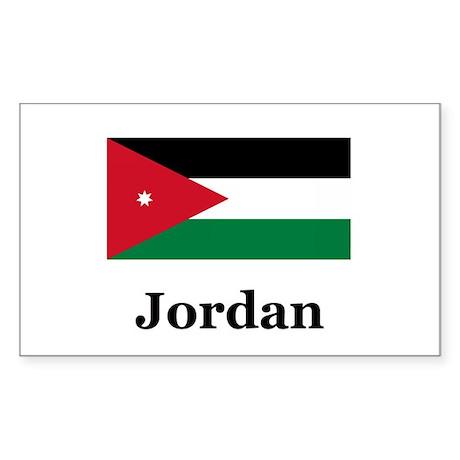 Jordan Rectangle Sticker