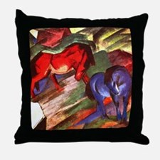 Horses by Franz Marc Throw Pillow