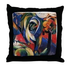 The Mandrill by Franz Marc Throw Pillow