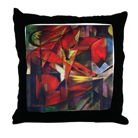 The Fox by Franz Marc Throw Pillow