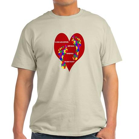Footprints on your heart 2 Light T-Shirt