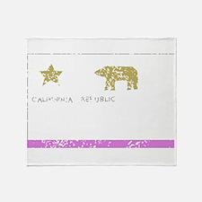 California State Flag (Distressed) Throw Blanket