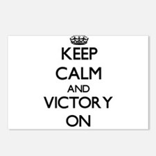 Keep Calm and Victory ON Postcards (Package of 8)