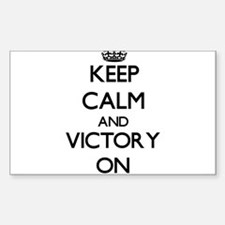 Keep Calm and Victory ON Decal