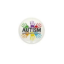 Autism: support, educate, advocate. Mini Button (1