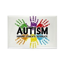 Autism: support, educate, advocate. Magnets