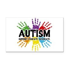 Autism: support, educate, advocate. Rectangle Car