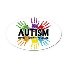 Autism: support, educate, advocate. Oval Car Magne