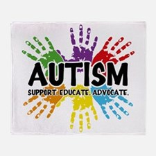 Autism: support, educate, advocate. Throw Blanket