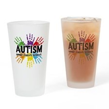 Autism: support, educate, advocate. Drinking Glass