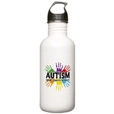 Autism: support, educate, advocate. Water Bottle