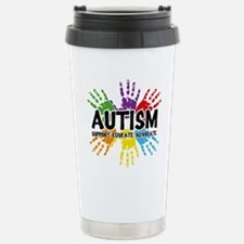 Autism: support, educate, advocate. Travel Mug