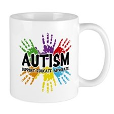Autism: support, educate, advocate. Mugs