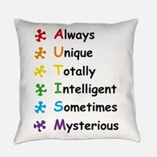 Autism Facts Everyday Pillow