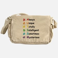 Autism Facts Messenger Bag