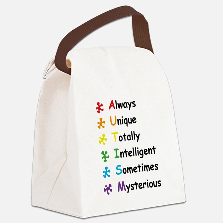 Autism Facts Canvas Lunch Bag
