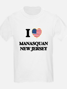 I love Manasquan New Jersey T-Shirt