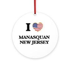 I love Manasquan New Jersey Ornament (Round)