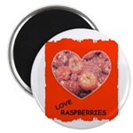 LOVE RASPBERRIES Magnet
