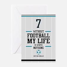 Cristiand Ronaldo's football Inspir Greeting Cards