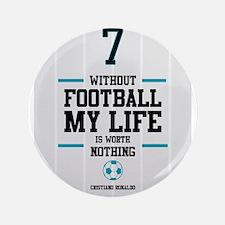 "Cristiand Ronaldo's footbal 3.5"" Button (100 pack)"