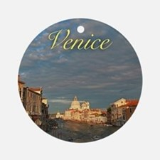 Venice Gift Store Pro Photo Ornament (Round)