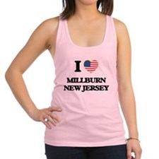 I love Millburn New Jersey Racerback Tank Top