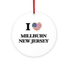 I love Millburn New Jersey Ornament (Round)
