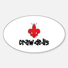 The ORIGINAL craw-de-lis Oval Decal