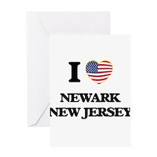 I love Newark New Jersey Greeting Cards