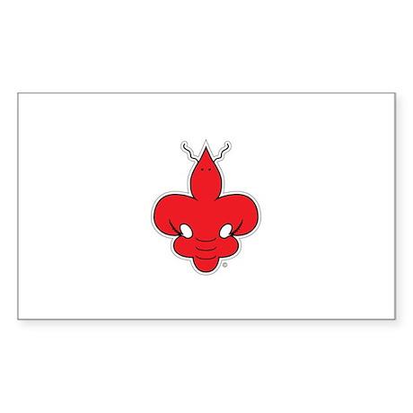 craw-de-lis Rectangle Sticker