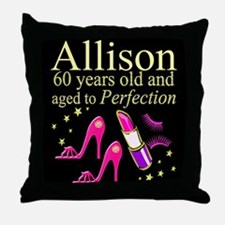SPARKLING 60TH Throw Pillow