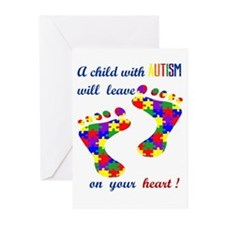 Footprints on your heart Greeting Cards (Pk of 20)