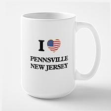 I love Pennsville New Jersey Mugs