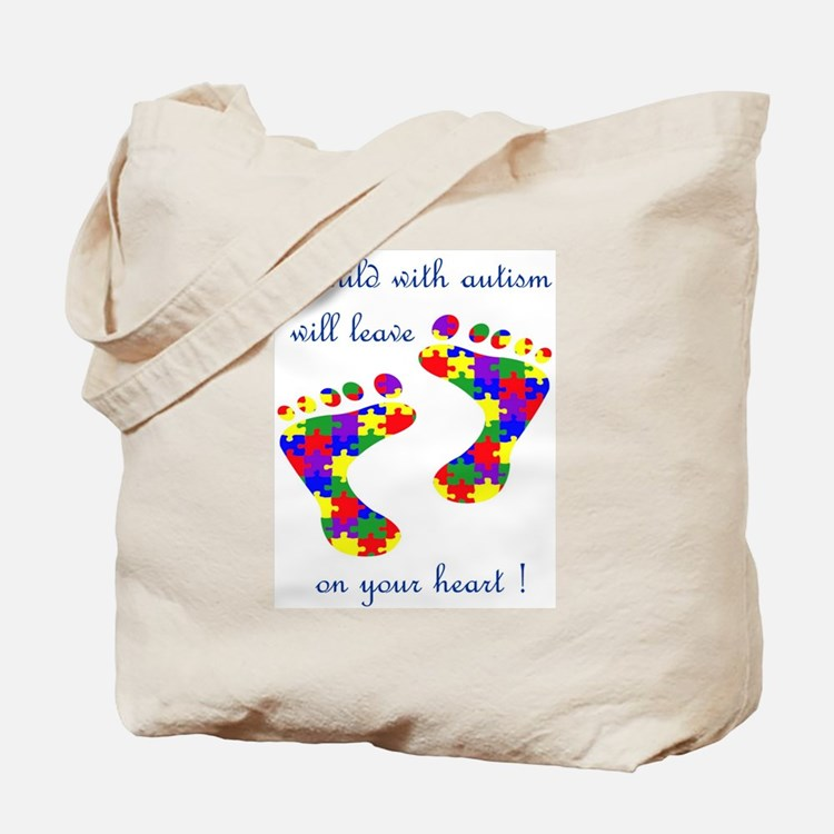 Footprints on your heart Tote Bag