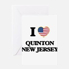 I love Quinton New Jersey Greeting Cards