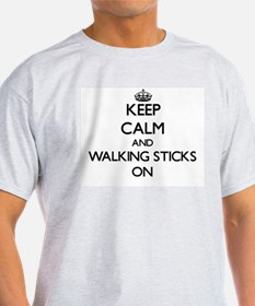 Keep Calm and Walking Sticks ON T-Shirt