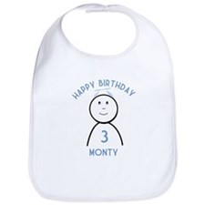 Happy B-day Monty (3rd) Bib