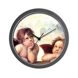 Raphael angels Wall Clocks