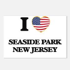 I love Seaside Park New J Postcards (Package of 8)