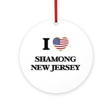 I love Shamong New Jersey Ornament (Round)