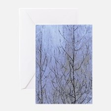 Fall Has Come - Blue Greeting Cards