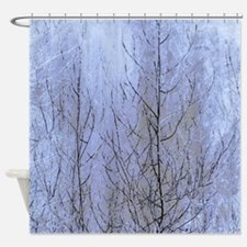 Fall Has Come - Blue Shower Curtain