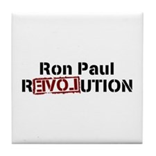 Ron Paul Revolution Tile Coaster