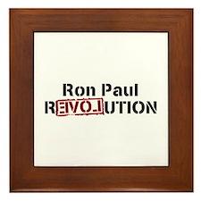 Ron Paul Revolution Framed Tile