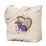 Funny Harp Player Tote Bag